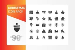 pacote de ícones de natal para o design do seu site, logotipo, aplicativo, interface do usuário vetor