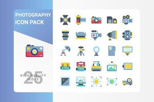 pacote de ícones de fotografia para o design do seu site, logotipo, aplicativo, interface do usuário vetor