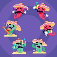 entretenimento do personagem do México vetor