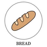 pão realista em um fundo branco - vetor