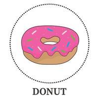 donut realista abstrato em fundo branco - vetor