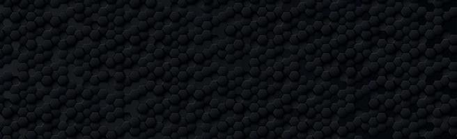 hexágonos abstratos pretos em um fundo preto e cinza vetor