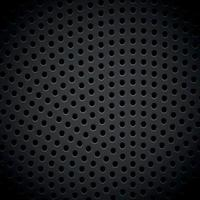 textura de fundo escuro de metal perfurado material - vetor