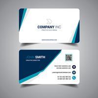 Cartão elegante azul vetor