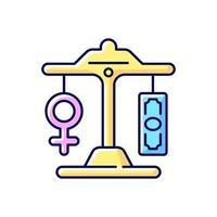 ícone de cor rgb de pagamento igual