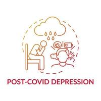 ícone do conceito de depressão pós-cobiça vetor