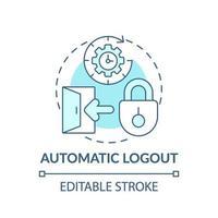 ícone do conceito de logout automático