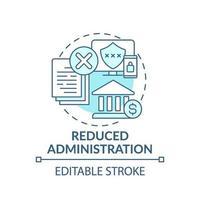 ícone de conceito de administração reduzido