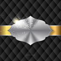 Modelo de Design de rótulo dourado vetor
