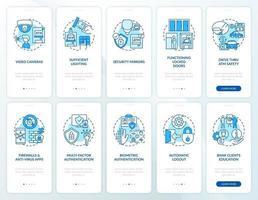 tela da página do aplicativo móvel de integração de segurança bancária com conjunto de conceitos