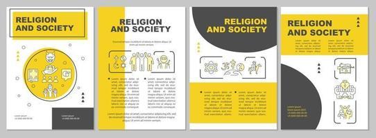 modelo de folheto de religião e sociedade