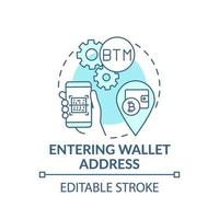 inserir ícone de conceito de endereço de carteira vetor