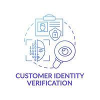 ícone do conceito de verificação de identidade do cliente vetor