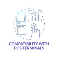 compatibilidade com ícone de conceito de terminais pos