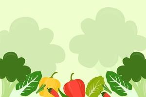 vetor de fundo de vegetais
