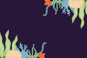 vetor de fundo do mar