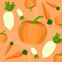vetor padrão de vegetais
