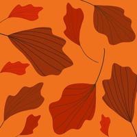 vetor de padrão de folha