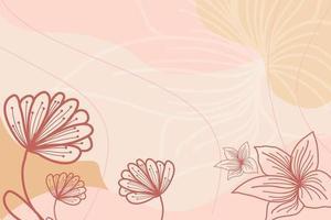 vetor de fundo de contorno floral