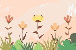 vetor de fundo floral