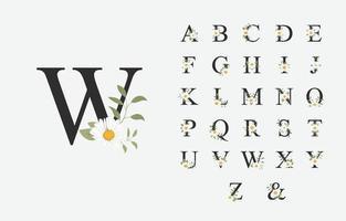 lindo alfabeto para casamento com flor