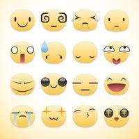 pacote de emoticons vetor