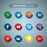 Mídia social leve coleção vetor