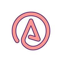 ícone de cor de símbolo abstrato