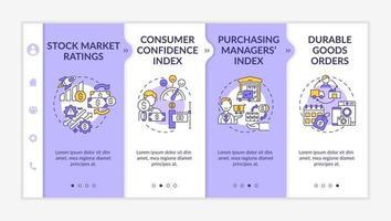 modelo de vetor de integração de índice de confiança do consumidor