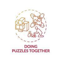 fazendo quebra-cabeças juntos ícone do conceito