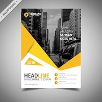 Design Criativo Amarelo Folheto