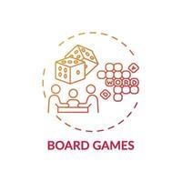 ícone do conceito de jogos de tabuleiro