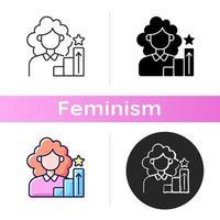 mulheres em ícone de gestão