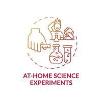 em casa ícone de conceito de experimentos científicos