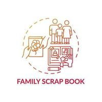 ícone de conceito de livro de recortes de família
