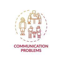 ícone de conceito de problemas de comunicação