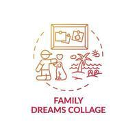 ícone de conceito de colagem de sonhos em família