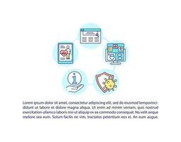 cobiçado ícone de conceito de plataforma de recuperação com texto