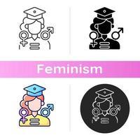ícone de oportunidades iguais de educação