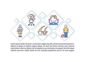 ícone do conceito de síndrome pós-covid com texto vetor