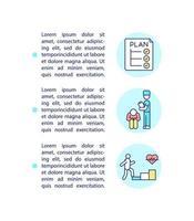 ícone do conceito de programas de reabilitação e autogerenciamento com texto