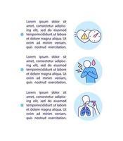 ícone do conceito de complicações cardiovasculares e respiratórias com texto