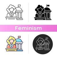 mulheres no ícone do governo