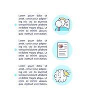 ícone do conceito de monitoramento de síndrome pós-covid com texto