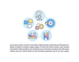 ícone do conceito de complicações neurológicas e psiquiátricas com texto