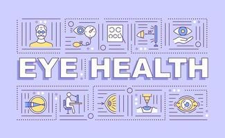 banner de conceitos de palavras de saúde ocular