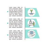 ícone do conceito de correção de visão a laser com texto