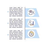 causas de olhos digitais distorcem o ícone do conceito com texto