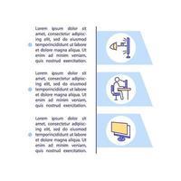 prevenção de olhos digitais distendem o ícone do conceito com texto