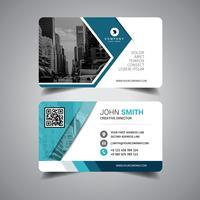 Cartão de visita azul elegante vetor